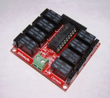 RKRelay8c Ultra Compact Relay Module - Great for Atmel, Arduino & Raspberry PI - Self Build Kit